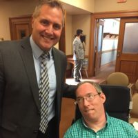 Representative Zimmerman and disability rights activist Ramsey Lee