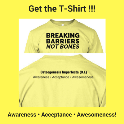 Breaking Barriers Not Bones T-Shirt