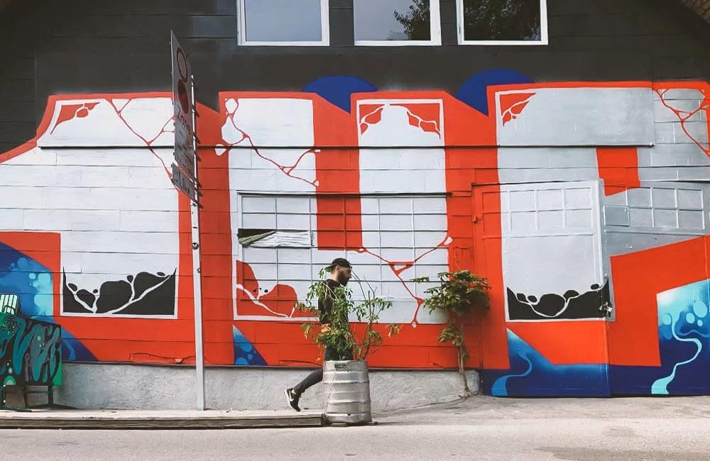 Wall by 1UP per il Montana Store Vienna 1st Birthday - Donaukanal Vienna