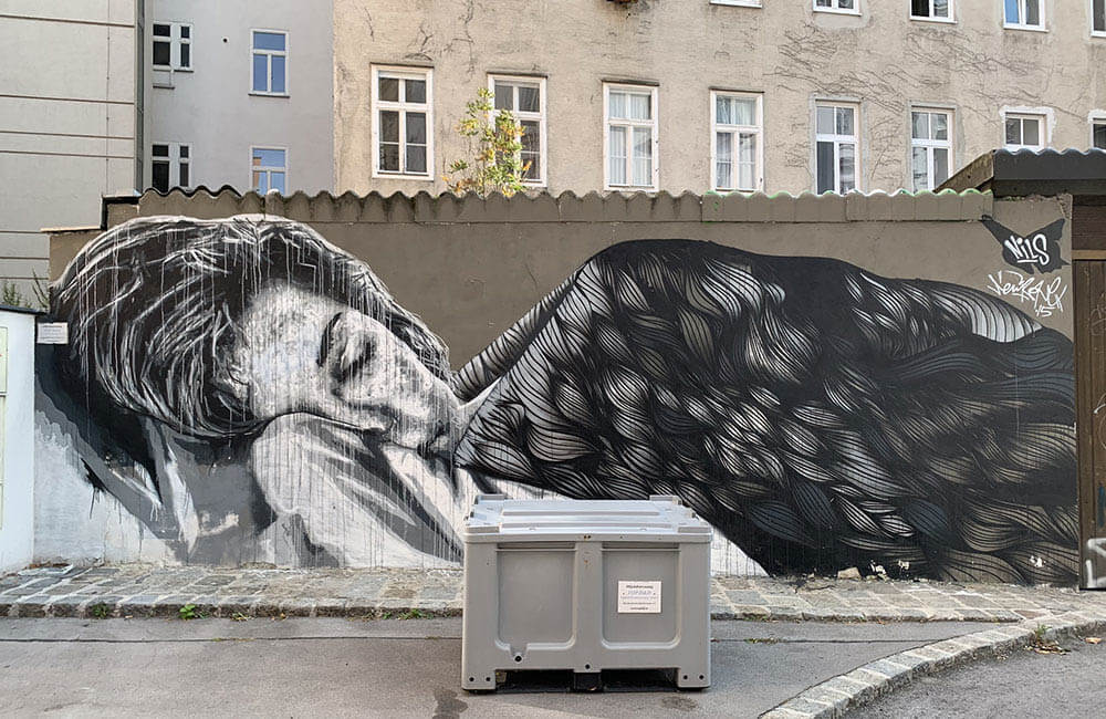 Wall by Nils in Vienna