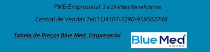 BLUE MED PLANO DE SAUDE EMPRESARIAL