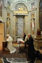 PopePraying4 Holy Father's Intentions  text and mp3 audio download