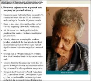 Afrikaner poor Maria Schoeman elderly whites malnourished in[13]