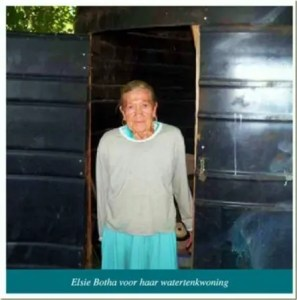 AfrikanerPoor Elsie Botha lives in a refitted watertank Eagles Nest Pretoria Helping Hand charity[5]