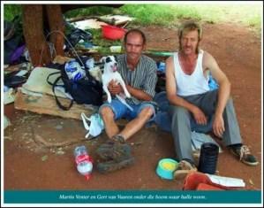 AfrikanerPoor Martin Venter Gert van Vuuren live underneath this tree Squatter camp Eagles Nest Pretoria[6]