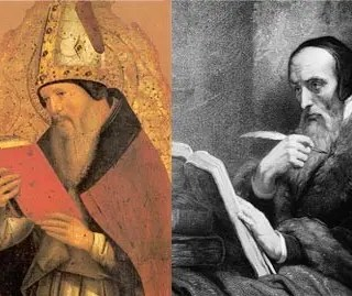 St Augustine and John Calvin