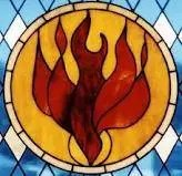 Holy Spirit Dove on Fire