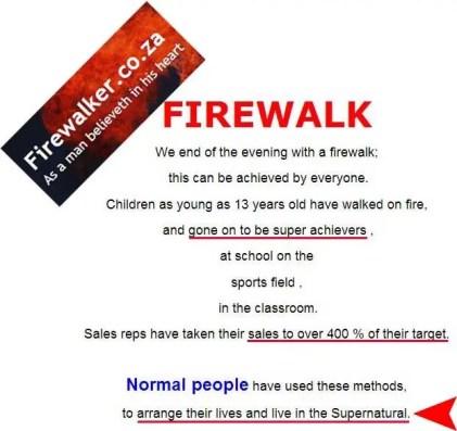 Firewalk-Firewalker