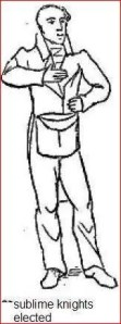 Freemason - hand on chest - masonic sign