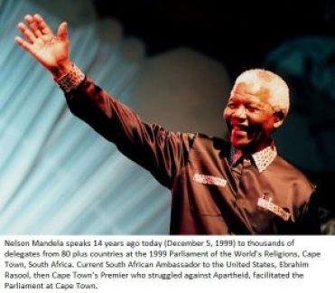 Nelson Mandela Parliament of World's Religions 1999 Cape Town