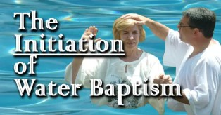 Water Baptism Initiation