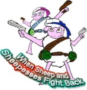 when sheep fight back - dangerous job