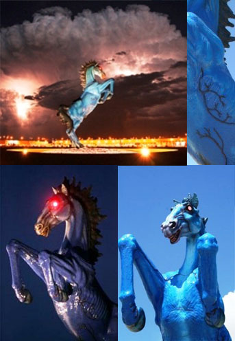 Horse New World Order Airport - Occult art