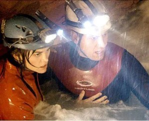 'Sanctum' stars Alice Parkinson, left, and Ioan Gruffudd as cave explorers who get caught in a flood.  / Universal Pictures