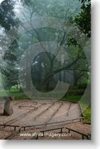 the labyrinth at the buddhist retreat centre ixopo kwazulu natal south africa
