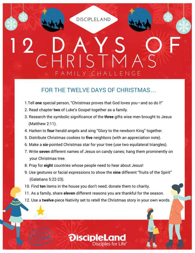 three ways to celebrate the twelve days of christmas with kids