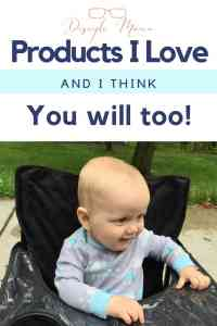 Baby boy in a Ciao! Baby portable high chair with text: Products I Love and I think You will too