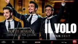"""image001 IL VOLO """"Una Notte Magica – Tributo ai Tre Tenori"""" Sabato 8 luglio 2017   ore 21:30 PALMANOVA, Piazza Grande"""