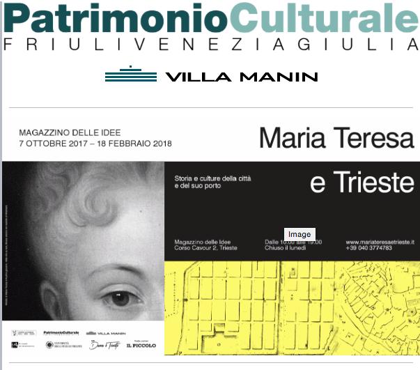 DAL 7 OTTOBRE 2017 AL 18 FEBBRAIO 2018 MAGAZZINO DELLE IDEE Corso Cavour 2 – Trieste