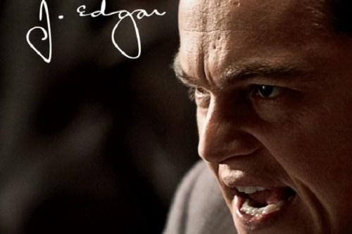 Copertina verticale del film J. Edgar con un Leonardo di Caprio dallo sguardo arrabbiato