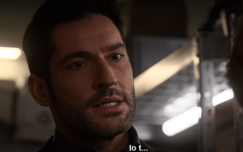 Lucifer (Tom Ellis) durante il confronto con Chloe in Lucifer 5