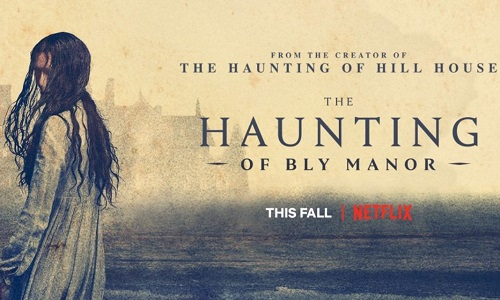 Banner orizzontale di The haunting of Bly Manor , nuova serie netflix dai creatori di the hunting of hill house