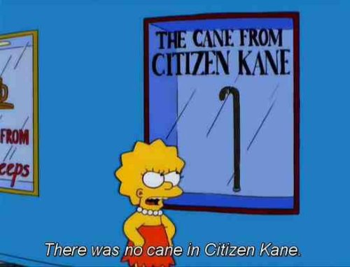 Lisa Simpson e il meme di Quarto potere
