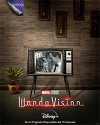 Il poster stile anni 50 dedicato al primo episodio di WandaVision