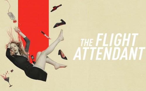 banner orizzontale di the flight attendant, la nuova miniserie di HBO Max con Caley Cuoco candidata come miglior serie e miglior attrice ai Golden globes 2021