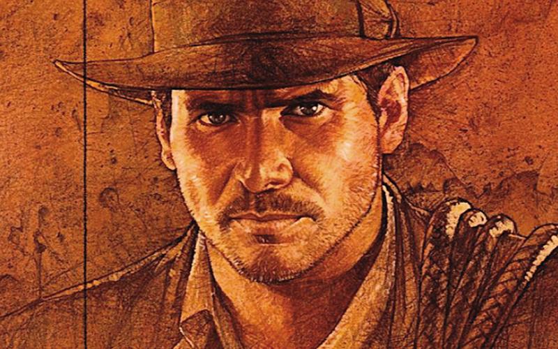 Lo sguardo di Indiana Jones catturato dal pittore Drew Struzan. Il primo film della saga è uscito ormai 40 anni fa