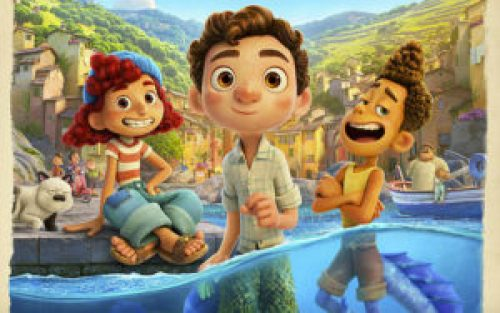 Giulia, Luca e Alberto in una scena di Luca della Pixar
