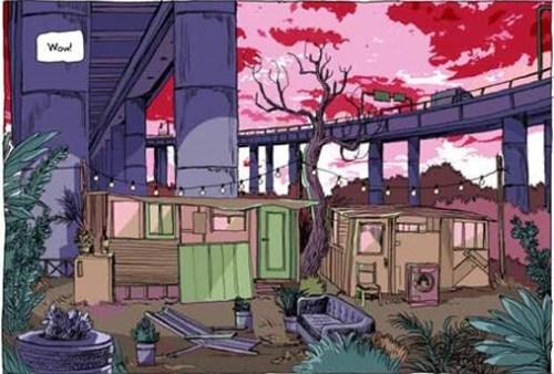Un'altra scena del graphic novel di Sergio Gerasi