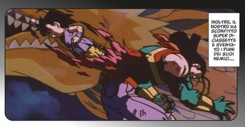 La sconfitta di Super 17 nell'anime comics di Dragon Ball GT