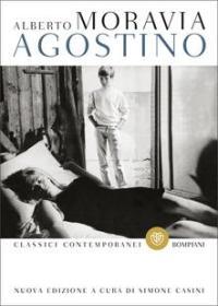 La copertina di Agostino, di Alberto Moravia