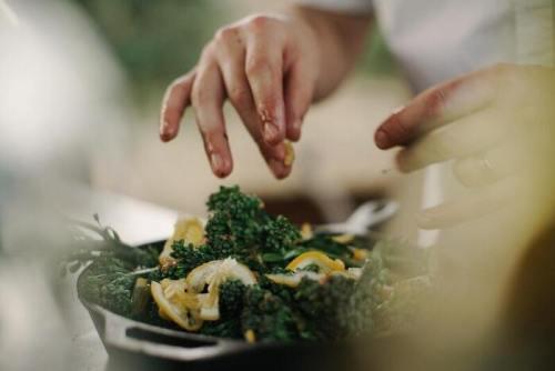 La preparazione di un piatto