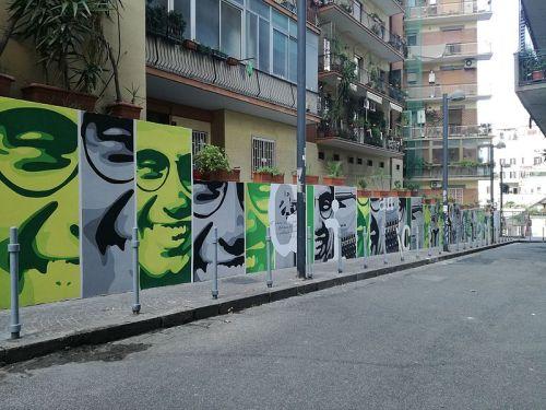 Il murales dedicato a Giancarlo Siani, il giornalista ucciso dalla camorra nel 1985