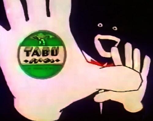 Tabù, un celebre spot della tv anni 80 e 90