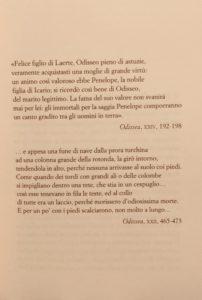 Incipit de Il canto di Penelope di Margaret Atwood, foto originale di Silvia Liotta