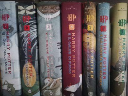 Mia sorella colleziona tutti i libri a tema Harry Potter: le ho chiesto di fotografare tutta la saga (però Harry Potter non mi piace!)