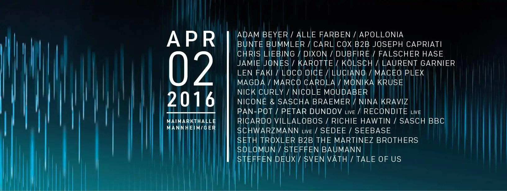 TIME WARP MANNHEIM 2016 GERMANIA 02 04 2016 + PREZZI BIGLIETTI PACCHETTI HOTEL VOLO PULLMAN