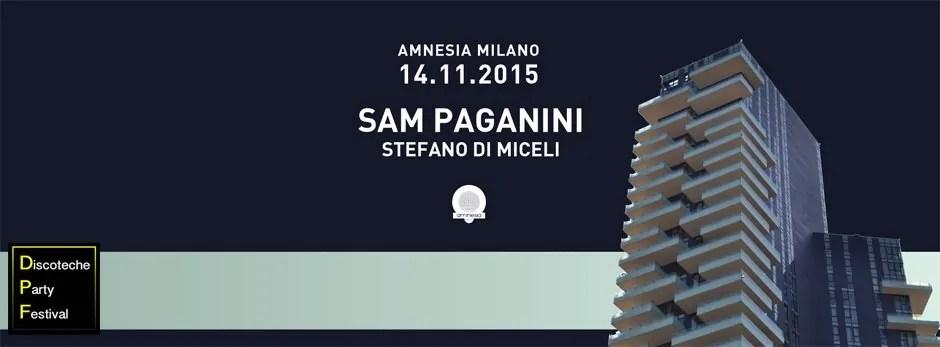 Amnesia Milano Sam Paganini 14 11 2015