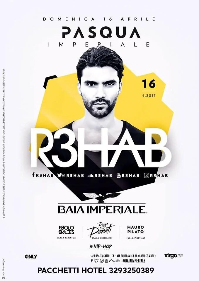PASQUA 2017 BAIA IMPERIALE 16 04 2017 R3HAB Ticket Tavoli Pacchetti hotel Prevendite