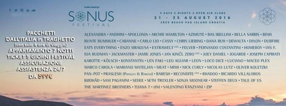 sonus festival 2016 pacchetti da italia traghettosonus festival 2016 pacchetti da italia traghetto