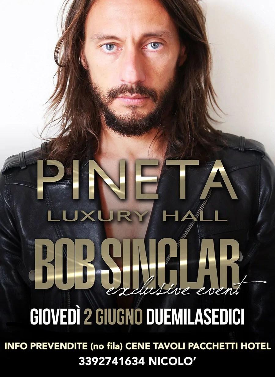Pineta Milano Marittima Bob Sinclair 02 Giugno 2016