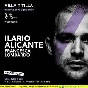 28 06 2016 VILLATITILLA ILARIO ALICANTE OPENING PARTY