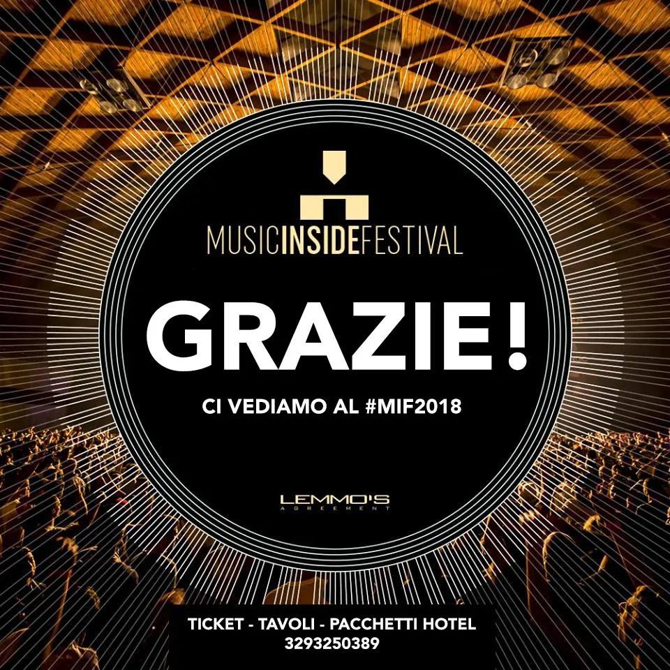 MIF MUSIC INSIDE FESTIVAL 2018 RIMINI FIERA 29-30 APRILE 2018 PREZZI BIGLIETTI PACCHETTI HOTEL