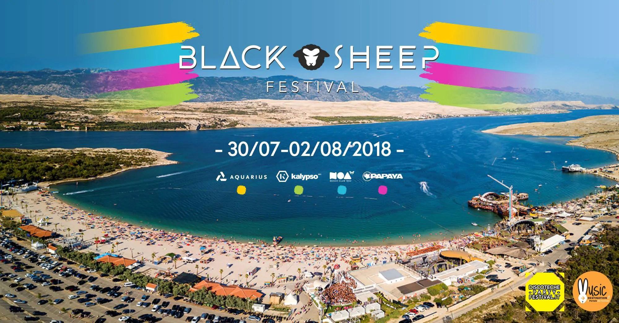 Black sheep Festival 2018, 30 Luglio – 02 Agosto Pag Croazia | Ticket – Appartamenti – Viaggio
