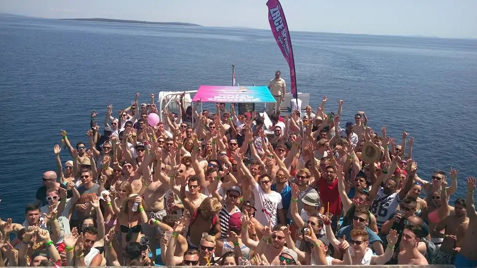 boat party zrce spring break croatia