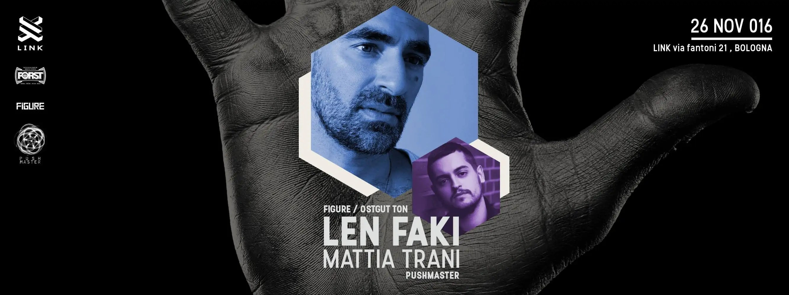SABATO 26 11 2016 LINK BOLOGNA LEN FAKI + PREZZI PREVENDITE BIGLIETTI TAVOLI + PULLMAN