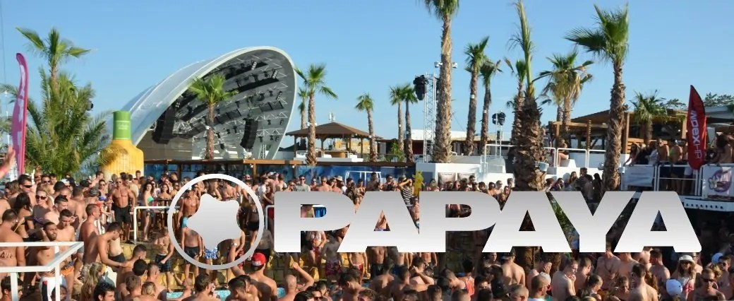 PAPAYA Club a Zrce Beach Isola di Pag in Croazia